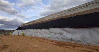 Construcción de autovía con Geotextiles para refuerzo y drenaje A33 por Caudete