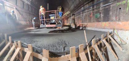 Rehabilitación del túnel ferroviario con el Geotextil Geoforce