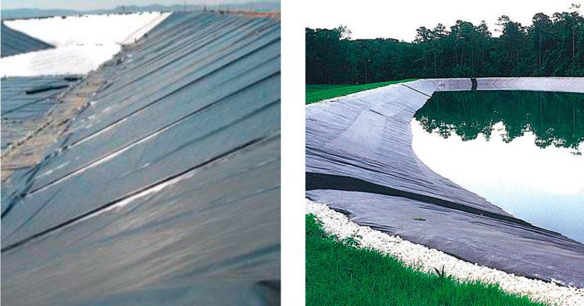 Instalación de geomembranas: preparación del soporte y colocación