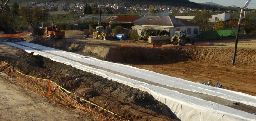 Geotextiles para el drenaje de obras de tierra